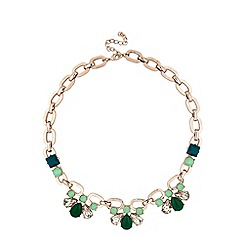 Principles by Ben de Lisi - Designer green crystal teardrop necklace