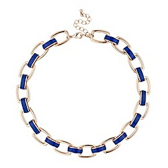 Principles by Ben de Lisi - Designer blue enamel link necklace
