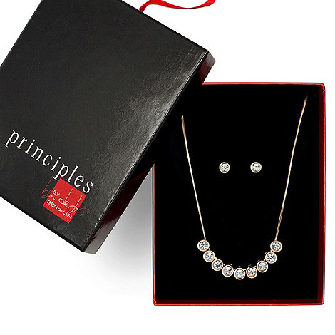 Principles by Ben de Lisi - Designer multi crystal stone necklace and earring set