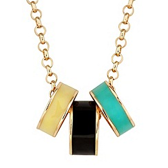 Principles by Ben de Lisi - Designer multi enamel ring drop necklace