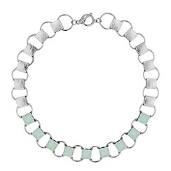 Principles by Ben de Lisi - Designer blue stone link collar necklace