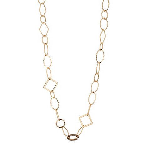 Principles by Ben de Lisi - Designer textured gold link long necklace