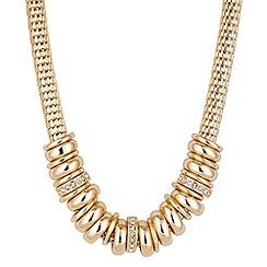 Principles by Ben de Lisi - Designer gold ring mesh chain necklace