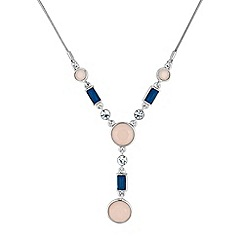 Principles by Ben de Lisi - Designer blue and pink stone set necklace