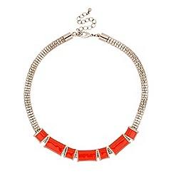 Principles by Ben de Lisi - Designer orange enamel panelled necklace