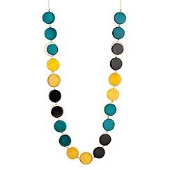 Principles by Ben de Lisi - Designer multicoloured disc drop long necklace