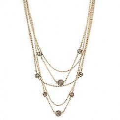 Principles by Ben de Lisi - Designer crystal ball multirow necklace