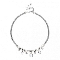Principles by Ben de Lisi - Designer crystal teardrop mesh chain necklace