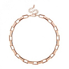Principles by Ben de Lisi - Designer rose gold square link necklace