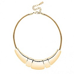 Principles by Ben de Lisi - Designer polished gold five bar necklace