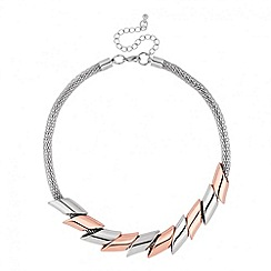 Principles by Ben de Lisi - Designer mixed metal tube mesh necklace