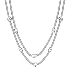 Principles by Ben de Lisi - Designer silver barrel multirow mesh necklace