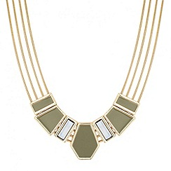 Principles by Ben de Lisi - Designer grey enamel 3-d panel necklace