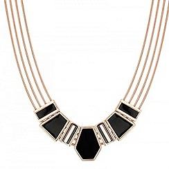 Principles by Ben de Lisi - Designer black enamel 3-d panel necklace