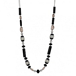 Principles by Ben de Lisi - Designer monochrome bead long necklace