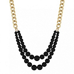 Principles by Ben de Lisi - Designer black pearl double row necklace