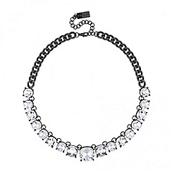 Principles by Ben de Lisi - Designer crystal set hematite link necklace