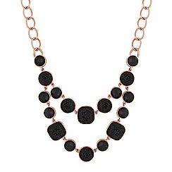 Principles by Ben de Lisi - Designer jet multi stone double row necklace