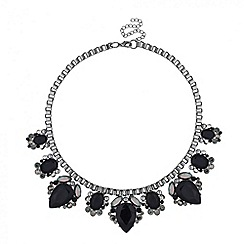 Principles by Ben de Lisi - Designer jet and crystal surround statement necklace
