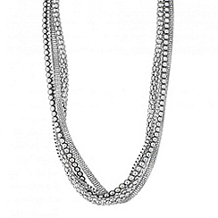 Principles by Ben de Lisi - Designer grey pearl and multi chain necklace