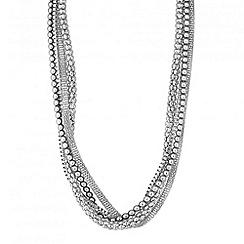 Principles by Ben de Lisi - Designer grey pearl and multi chain necklace