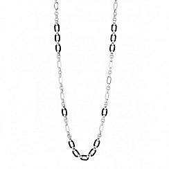 Principles by Ben de Lisi - Designer jet enamel link long rope necklace