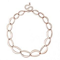 Principles by Ben de Lisi - Designer rose gold graduated link necklace