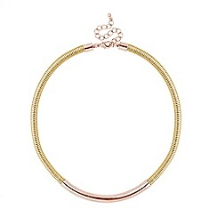 Principles by Ben de Lisi - Designer rose gold tube mesh chain necklace