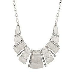 Principles by Ben de Lisi - Designer silver panel and crystal stick necklace