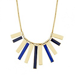 Principles by Ben de Lisi - Designer blue enamel polished stick necklace