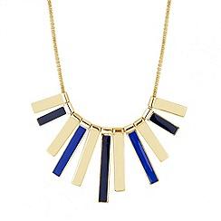 Principles by Ben de Lisi - Designer blue enamel polished stick necklace