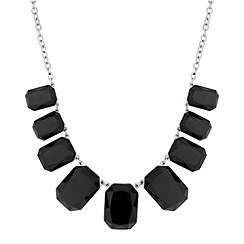 Principles by Ben de Lisi - Designer graduated black panel necklace