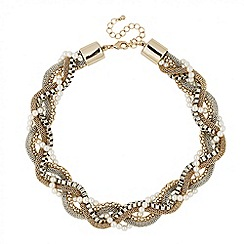 Principles by Ben de Lisi - Designer pearl and mixed metal chain necklace