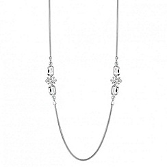 Principles by Ben de Lisi - Designer long crystal flower snake chain necklace