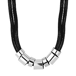 Principles by Ben de Lisi - Designer polished tube and jet chain necklace