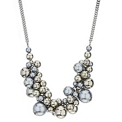 Principles by Ben de Lisi - Designer pearl and polished ball chain necklace