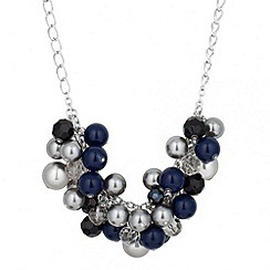 Principles by Ben de Lisi - Designer pearl and facet bead cluster necklace
