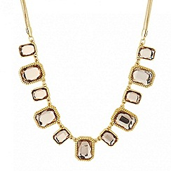 Principles by Ben de Lisi - Designer crystal square gold link necklace