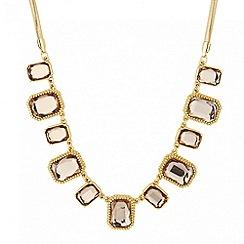 Principles by Ben de Lisi - Designer crystal square gold link necklace