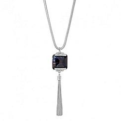 Principles by Ben de Lisi - Designer blue stone set long tassel necklace