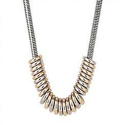 Principles by Ben de Lisi - Designer two tone polished ring necklace