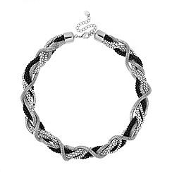 Principles by Ben de Lisi - Designer jet and silver twist chain necklace