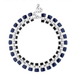 Principles by Ben de Lisi - Designer blue and jet enamel triple link necklace