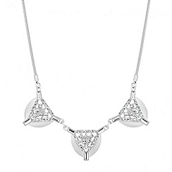 Principles by Ben de Lisi - Designer triangular embellished triple drop necklace