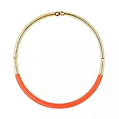 Principles by Ben de Lisi - Designer peach enamel polished torque necklace