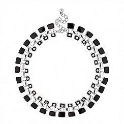 Principles by Ben de Lisi - Designer jet crystal enamel paddle necklace