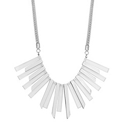 Principles by Ben de Lisi - Designer polished and clear stick necklace