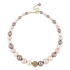 Principles by Ben de Lisi - Designer mink multi pearl strand necklace