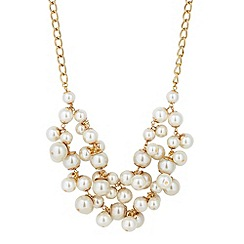 Principles by Ben de Lisi - Designer statement pearl double row necklace