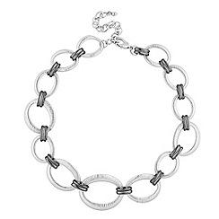 Principles by Ben de Lisi - Designer textured oval link necklace